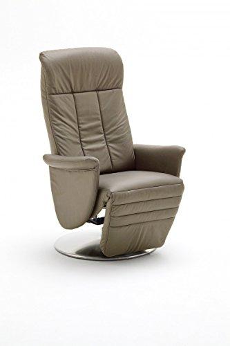 Dreams4Home Ledersessel 'Daniel' Relaxsessel Leder Wohnzimmer Sessel Relaxer TV-Sessel, Farbe:Cappuccino
