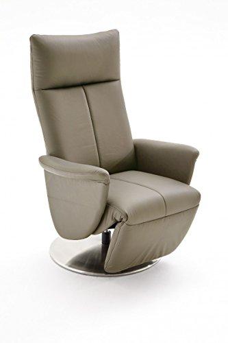 Dreams4Home Ledersessel 'Fly' Relaxsessel Leder Wohnzimmer Sessel Relaxer TV-Sessel, Farbe:Cappuccino