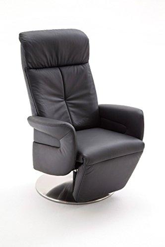 Dreams4Home Ledersessel 'Morgenstern' Relaxsessel Leder Wohnzimmer Sessel Relaxer TV-Sessel, Farbe:Braun