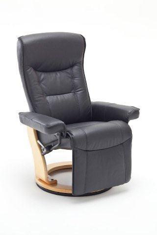 Dreams4Home Relaxsessel 'Julius', in schwarz,Leder, max. 150 kg, Fernsehesessel, Wohnzimmer, Sessel, Relaxer, TV-Sessel