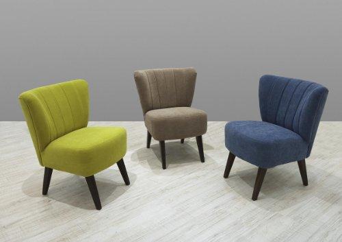Dreams4Home Sessel Locri Loungemöbel Loungesessel Clubsessel Cocktailsessel braun, grau, blau oder grün, Farbe:Grün