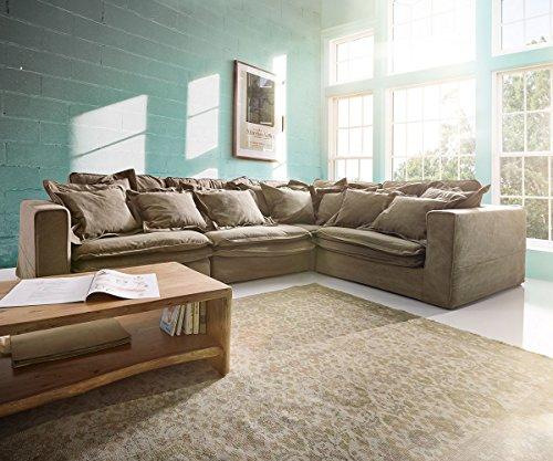 ecksofa sharona braun 337x234 cm mit kissen hussensofa m bel24. Black Bedroom Furniture Sets. Home Design Ideas