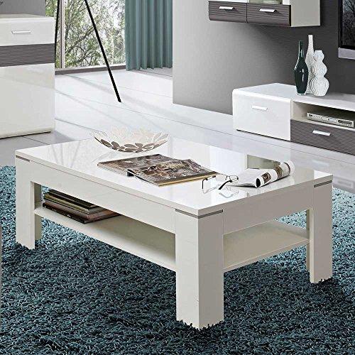 hochglanz wohnzimmertisch in wei ablage pharao24 m bel24. Black Bedroom Furniture Sets. Home Design Ideas
