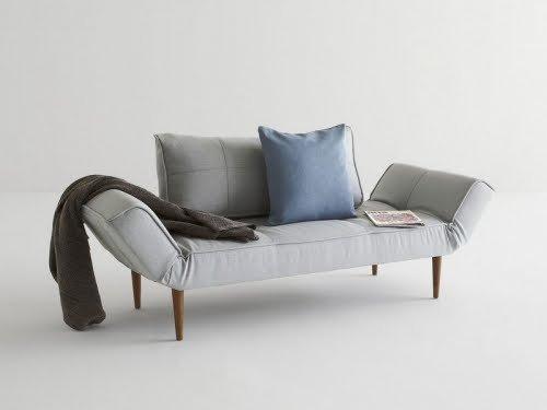 INNOVATION–Zeal Sofa Bett Grey Pacific Pearl / Dark Wood