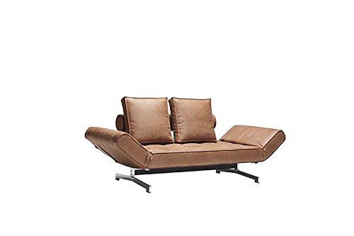 Innovation - Ghia Schlafsofa - braun - Kunstleder - Per Weiss - Design - Sofa