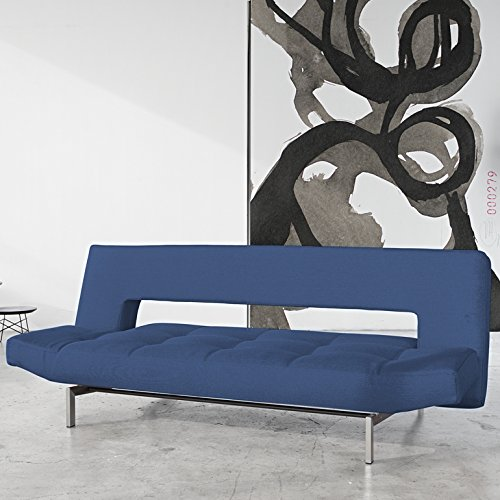 Innovation Schlafsofa Wing Stainless Textil saphirblau