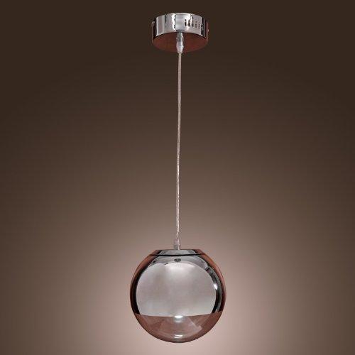 KJLARS Pendelleuchte Kugelleuchte Moderne Pendellampe Metall Glas Hängelampe