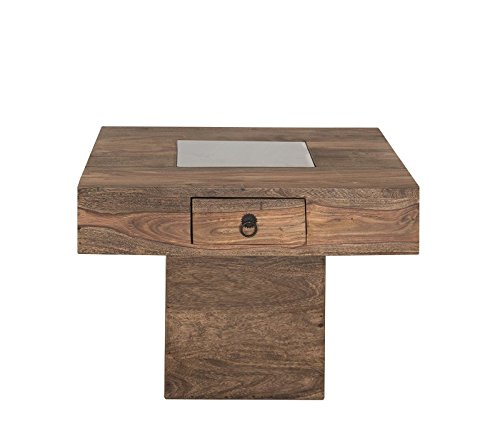 Kolonialart Massivholz Möbel Palisander grau Couchtisch 60x60 Sheesham geölt massiv Möbel LEEDS #21