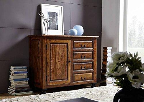 Kolonialart Sheesham Massivmöbel lackiert Sideboard Palisander vollmassiv Möbel massiv Holz Boston #208