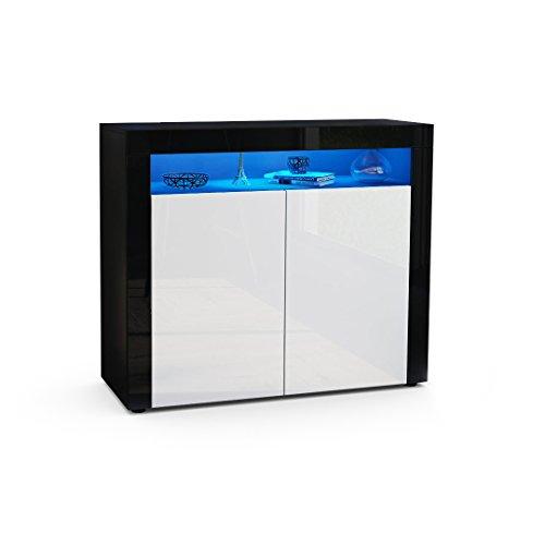 kommode sideboard valencia korpus in schwarz matt front. Black Bedroom Furniture Sets. Home Design Ideas