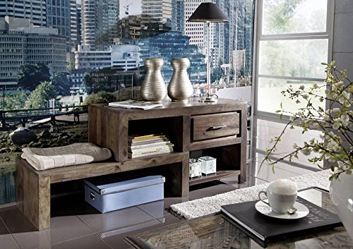 lackiert palisander holz m bel lowboard massivm bel grau sheesham metro polis 116 m bel24. Black Bedroom Furniture Sets. Home Design Ideas