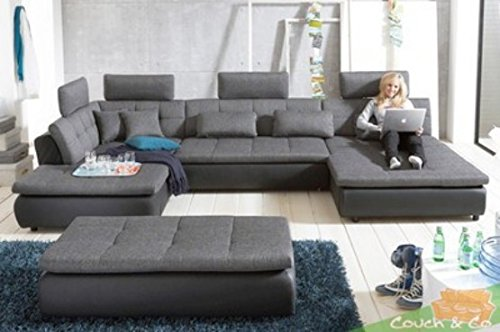 Loungesofa Wohnlandschaft Sofa Couch Ecksofa Eckcouch Plansofa Free C NEU