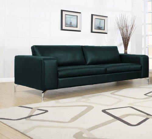 Madison Sofa 3-Sitzer Couch Polstergarnitur Kunstleder - schwarz