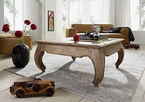 Massivmöbel Palisander Couchtisch 60x60 Holz Möbel massiv Sheesham hell braun Opium #630