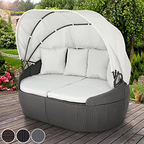 miadomodo polyrattan sonnenliege gartenliege sonneninsel. Black Bedroom Furniture Sets. Home Design Ideas