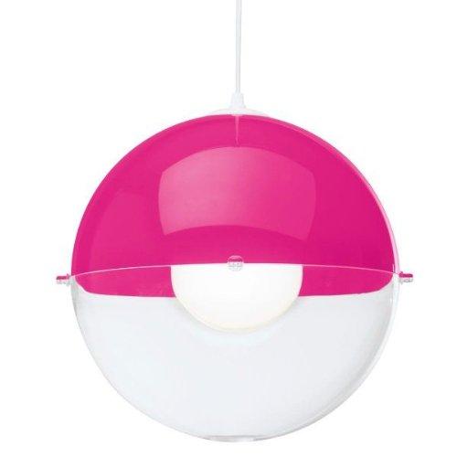 Pendelleuchte ORION pink mit tr. klar K1/2