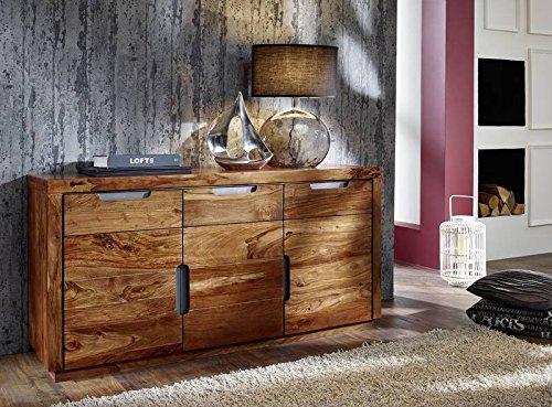 Palisander Holz Möbel massiv lackiert Sideboard Sheesham Massivmöbel Holz massiv walnuss Duke #127