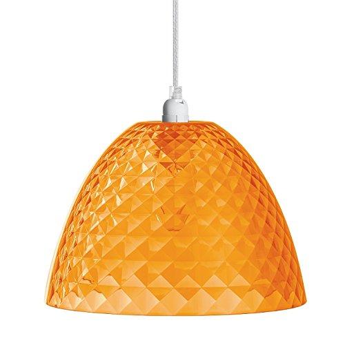 Pendelleuchte STELLA S transparent orange K1/2