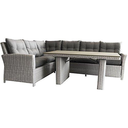 Polyrattan Sitzgruppe Sitzgarnitur inklusive Polster Rattanmöbel Loungemöbel Gartenmöbel