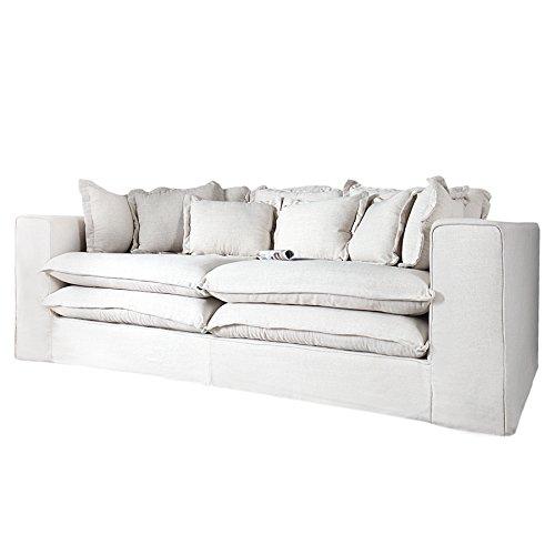 riesengro es xxxl hussensofa cloud creme leinen stoff hussen 240cm m bel24. Black Bedroom Furniture Sets. Home Design Ideas