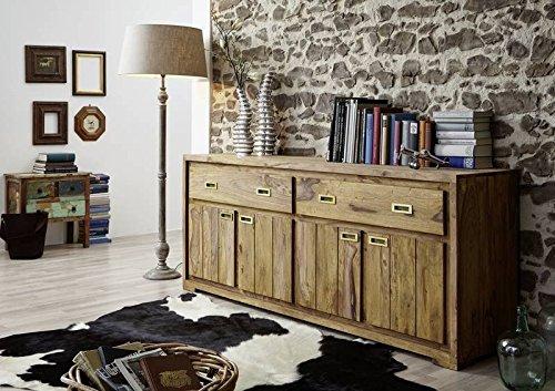 Sheesham Massivmöbel geölt Sideboard Palisander Holz massiv Massivholz Nature Brown #852