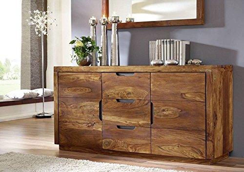 Sheesham Massivmöbel lackiert Sideboard Palisander Holz massiv Massivholz walnuss Duke #125
