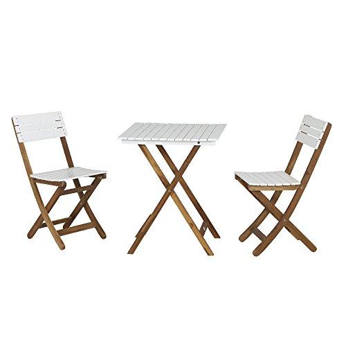 Siena Garden Balkonmöbelset Albany, Tisch 60x60x73,5cm, Akazienholz, geölt in natur, FSC 100%