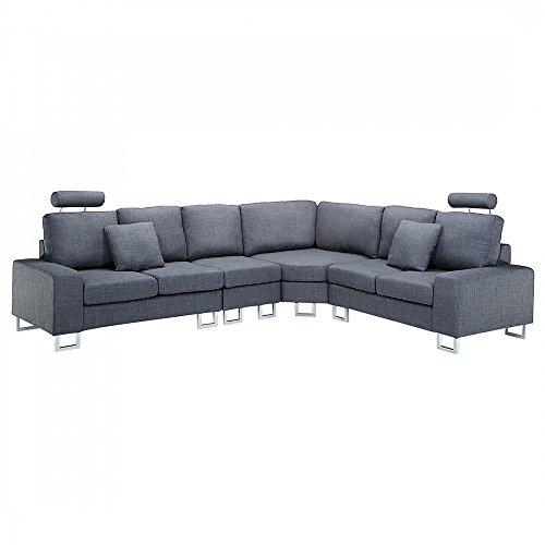 sofa couch dunkelgrau designer polstersofa stockholm m bel24. Black Bedroom Furniture Sets. Home Design Ideas