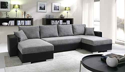 sofa couchgarnitur couch sofagarnitur tiger 6 u polstergarnitur polsterecke wohnlandschaft mit. Black Bedroom Furniture Sets. Home Design Ideas