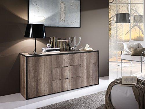 TIM 200125-07 Sideboard, Holz, braun, 160 x 42 x 75 cm