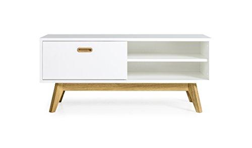 tenzo 2161 001 bess designer tv bank holz wei eiche 43 x 114 x 50 cm 0 m bel24. Black Bedroom Furniture Sets. Home Design Ideas
