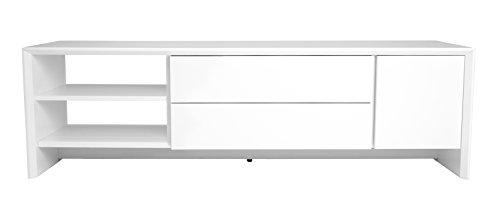 Tenzo 5943-001 Profil Designer TV Bank, 44 x 180 x 47 cm, weiß
