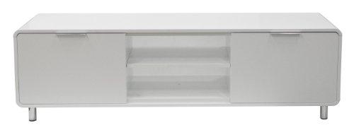 tenzo 8433 001 step designer tv bank wei mdf lackiert matt griffe und f e aus metall 47 x. Black Bedroom Furniture Sets. Home Design Ideas