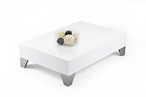 MOBILIFIVER Evolution 90Couchtisch, Holz, Weiß glänzend, 90x 60x 24cm