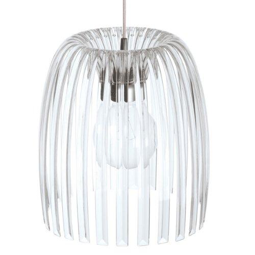 koziol Pendelleuchte Josephine M, Kunststoff, transparent klar, 31,3 x 31,3 x 35 cm