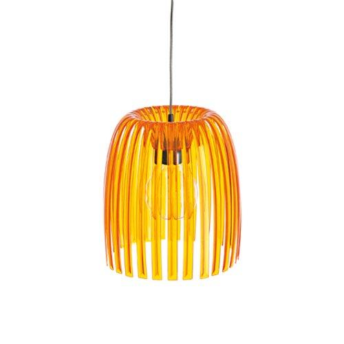koziol Pendelleuchte  Josephine M,  Kunststoff, transparent orange, 31,3 x 31,3 x 35 cm