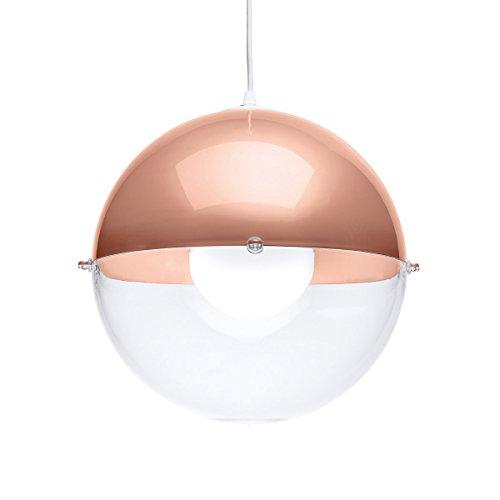 koziol Pendelleuchte Orion, Kunststoff, kupfer mit transparent klar, 31,5 x 31,5 x 30,5 cm