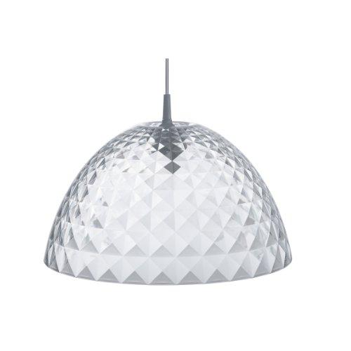 koziol Pendelleuchte  Stella M,  Kunststoff, transparent klar, 43,5 x 43,5 x 23,6 cm
