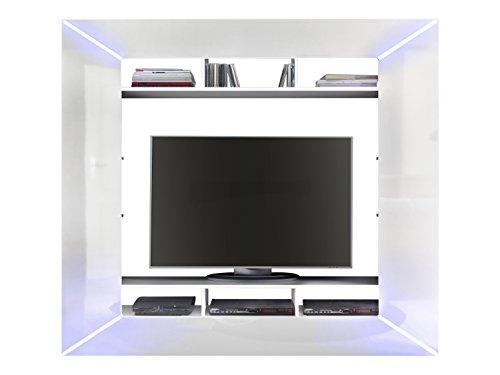 trendteam RC89601 TV Möbel Weiß Hochglanz, BxHxT 186x168x31 cm