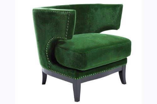 Kare Sessel Art Deco, grün