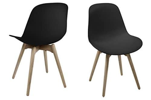 AC Design Furniture 0000056233 Esszimmerstuhl, Plastik, schwarz, 53 x 50.7 x 82.5 cm