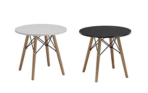 Beistelltisch Couchtisch Rund Holz Farbauswahl Tisch Retro Design Nachttisch TYP 221