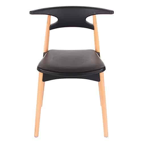 CORE Products Aspen Stuhl mit Beine aus Holz, Kunststoff, schwarz, 2Stück