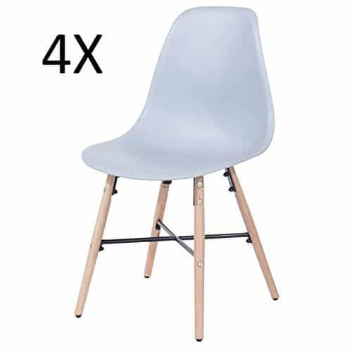 """Set mit 4 Stühlen, Retro-inspiriert, aus Kunststoff, Stuhl/Stühle für Esszimmer, Büro, Besprechungen, """"Enzo"""" von P&N Homewares"""