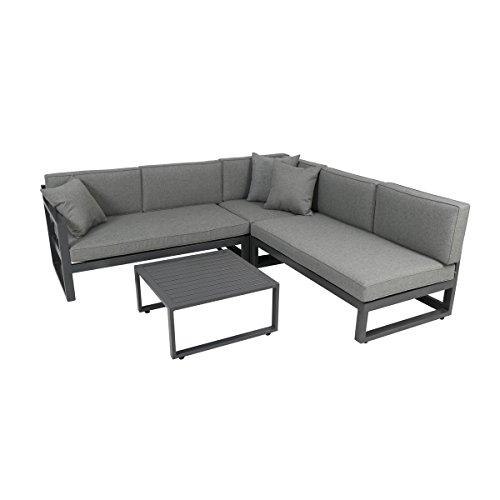 greemotion gartenm bel set alu costa rica gartenlounge aus aluminium mit auflagen in grau 3. Black Bedroom Furniture Sets. Home Design Ideas