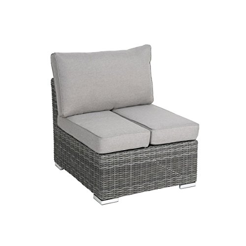 greemotion rattan sessel bari eck gartenbank lounge sessel mit auflage outdoor gartenm bel. Black Bedroom Furniture Sets. Home Design Ideas