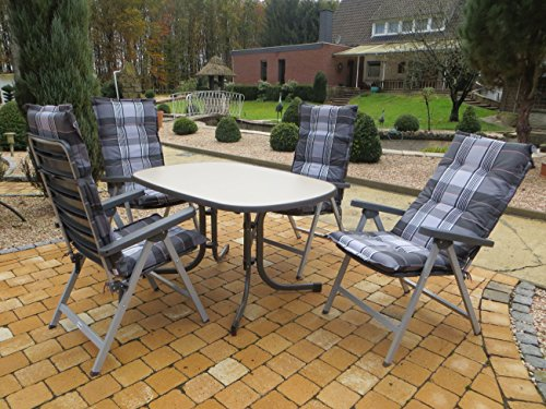9 teilige absolut wetterfeste gartenmbelgruppe fitty 4 klappsessel alpin 4 hochlehner auflagen. Black Bedroom Furniture Sets. Home Design Ideas