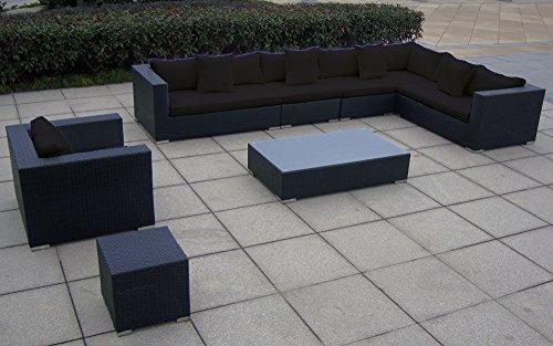 Baidani Garten Lounge Garnitur Flachrattan, Blizzard Select