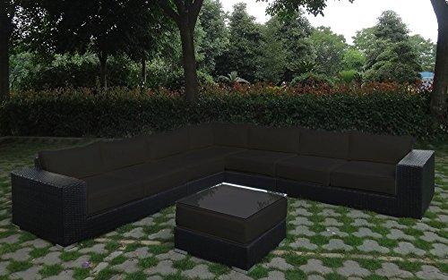 Baidani garten lounge garnitur flachrattan challenge select m bel24 - Lounge garnitur garten ...