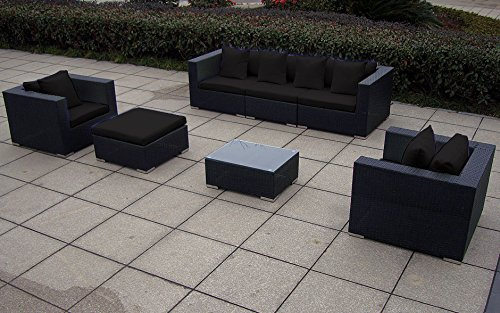Baidani garten lounge garnitur flachrattan daydreamer xxl select m bel24 for Lounge garnitur garten